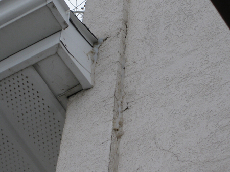 Bush Job Stucco Cracks