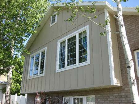 Siding valley trades for Siding and stucco combinations